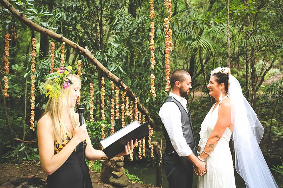 Gold coast rainforest wedding