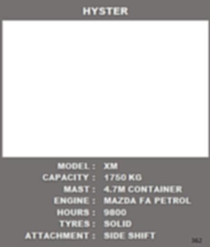 Refurbished Hyster 1.75 Petrol Forklift For Sale