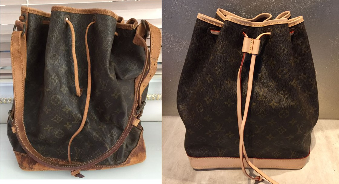 ff3ae4e81301 LV bag leather replacement