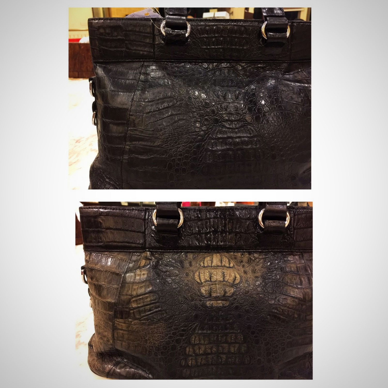 45f66ab46974 Colour Restoration on Crocodile Leather Bag