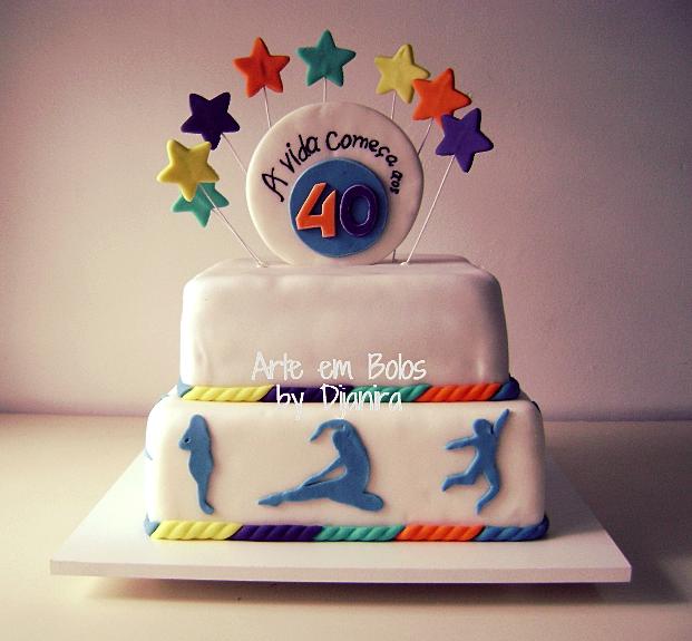 Bolo de Aniversario 40 Anos Feminino Bolo Decorado 40 Anos