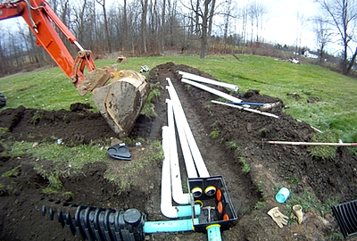 Septic systems overview for Septic tank distribution box location