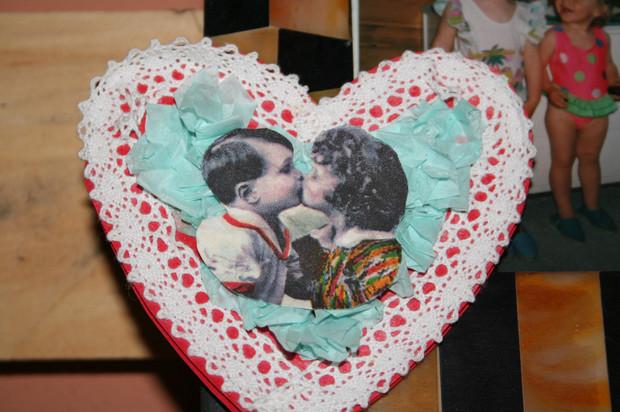 Schoko Herz Verpackung Kreppband diy