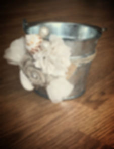 florida beach wedding flower girl bucket