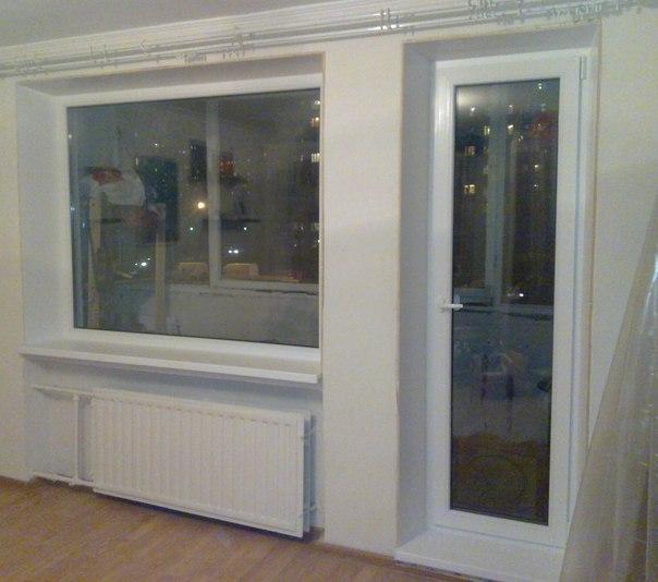 Замена балконной двери и окна - после.