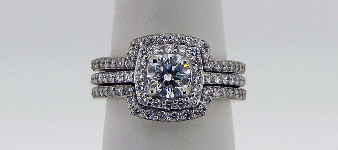 cozzi square halo with matching wedding band custom quality jewelry best unique custom jewelry - Wedding Band For Halo Ring
