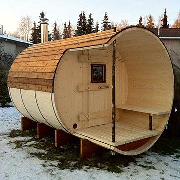 Kachemakcooperage saunas for Build your own barrel sauna