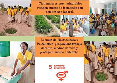 """Formación de la Mujer """"Vicenta María"""" para formar a mujeres jóvenes en técnicas agrícolas"""