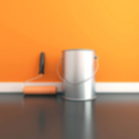 Interior Painting with a bright colour