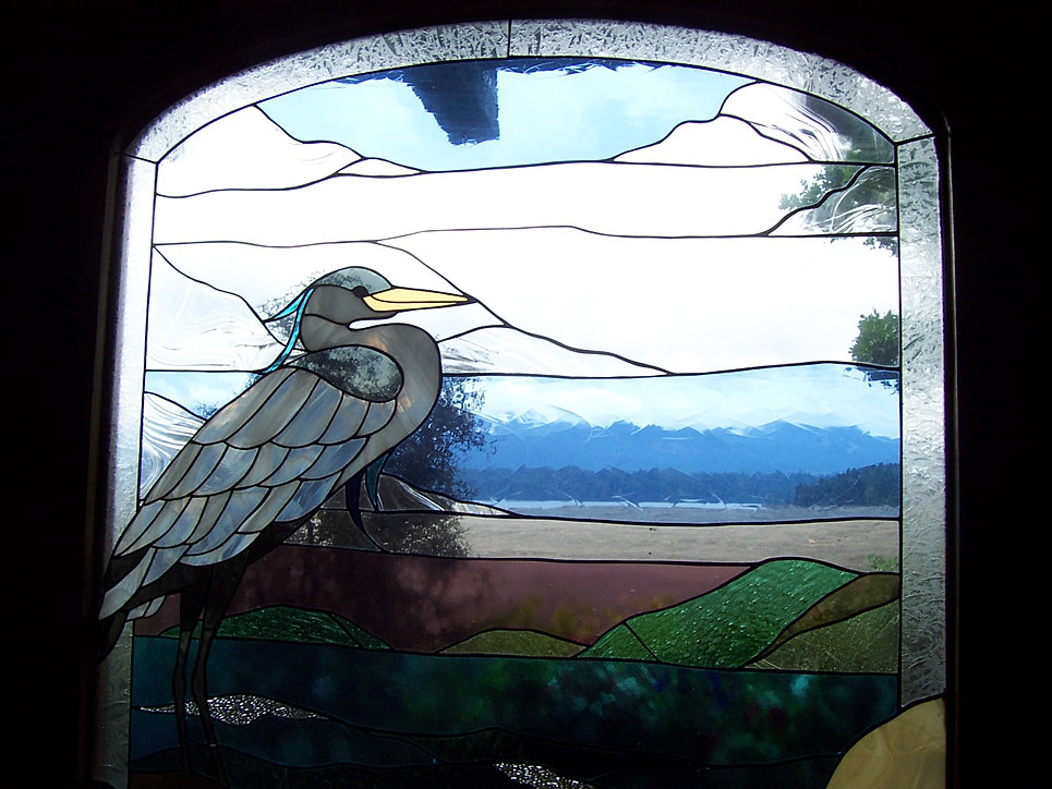 Heron Panel at Yellow Point Lodge