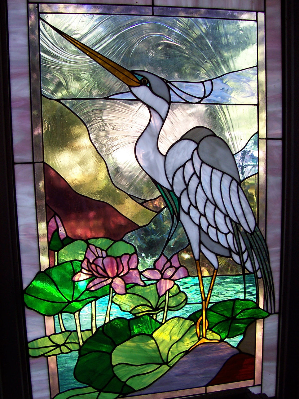 Heron Glass Panel