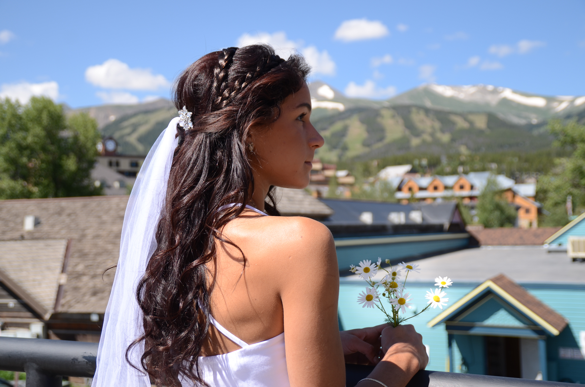 Majestic Mountain Beauty Wedding Hair and Makeup in - 2 Braid Hairstyles