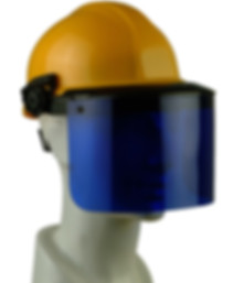 Leslico helmet with visor