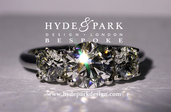Platinum 3 Stone Engagement Ring Bespoke Engagement Rings London