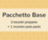 Pacchetto Base: 3 incontri preparto + 1 incontro post-parto