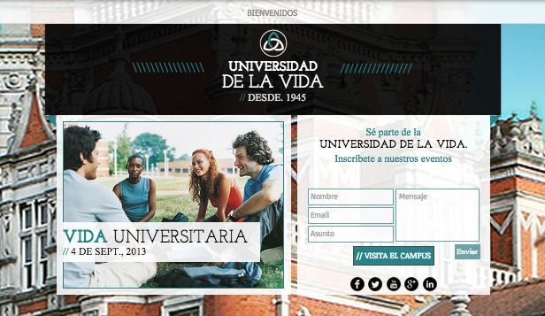 Landing page universitaria