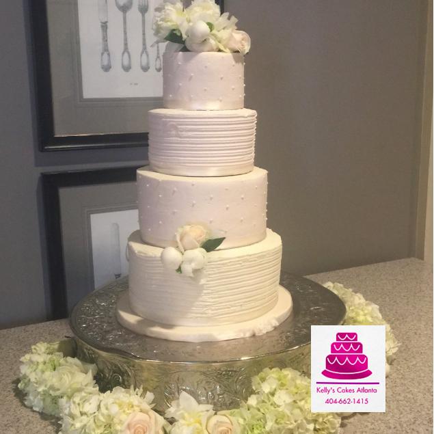 Cream Wedding Cakes Pictures