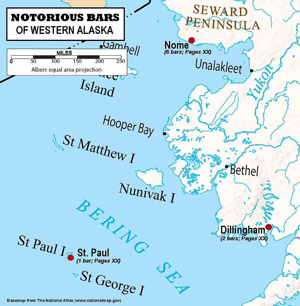 A Guide To The Notorious Bars Of Alaska  Map Of Western