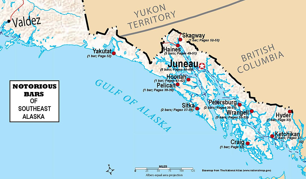A Guide To The Notorious Bars Of Alaska  Map Of Southeast
