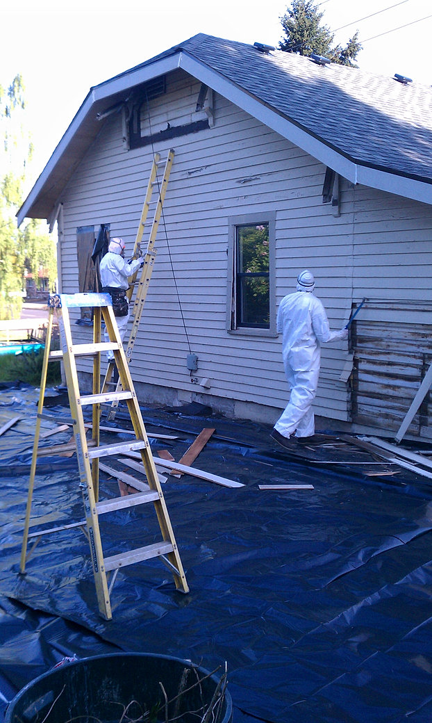 Portland siding contractor specializing in hardie plank cedar and lp residential gallery for Removing lead paint from exterior of house