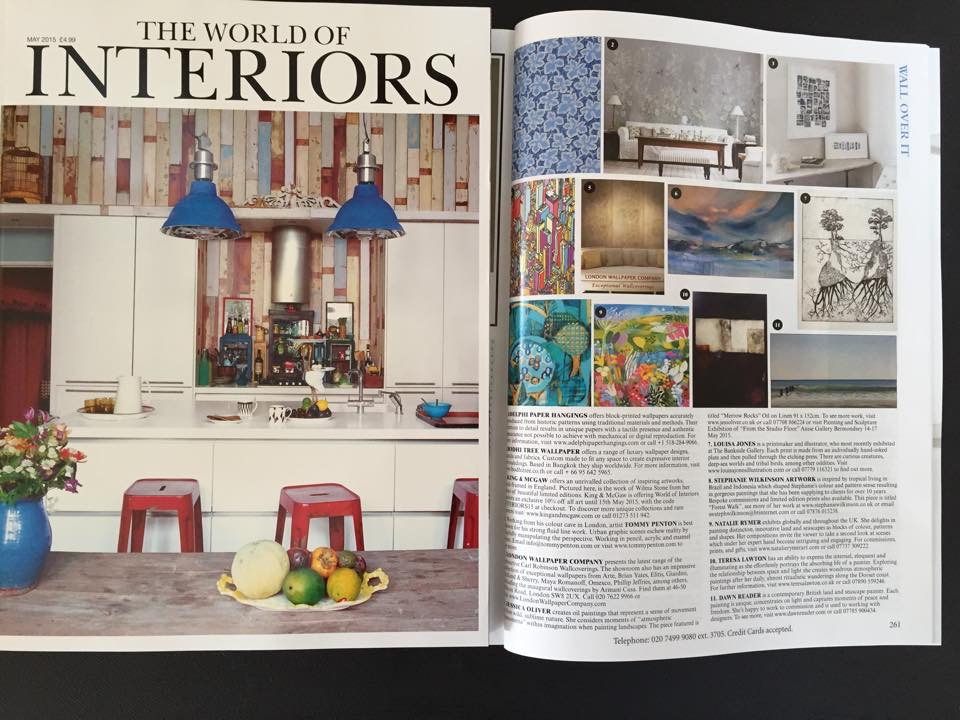 Natalie Rymer Painting Featured In The World Of Interiors Magazine