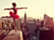 Ballet Dancer in front of New York Skyli