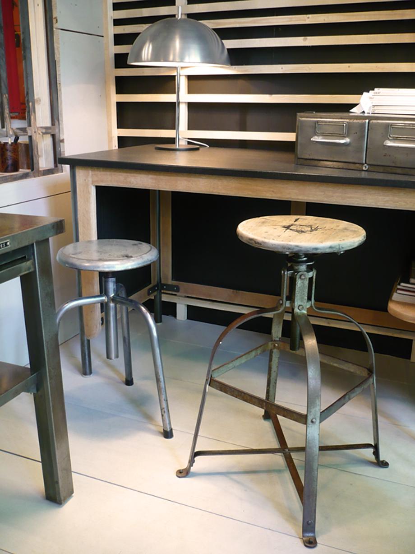 tabouret bienaise tabouret industriel artchiarty marseille. Black Bedroom Furniture Sets. Home Design Ideas