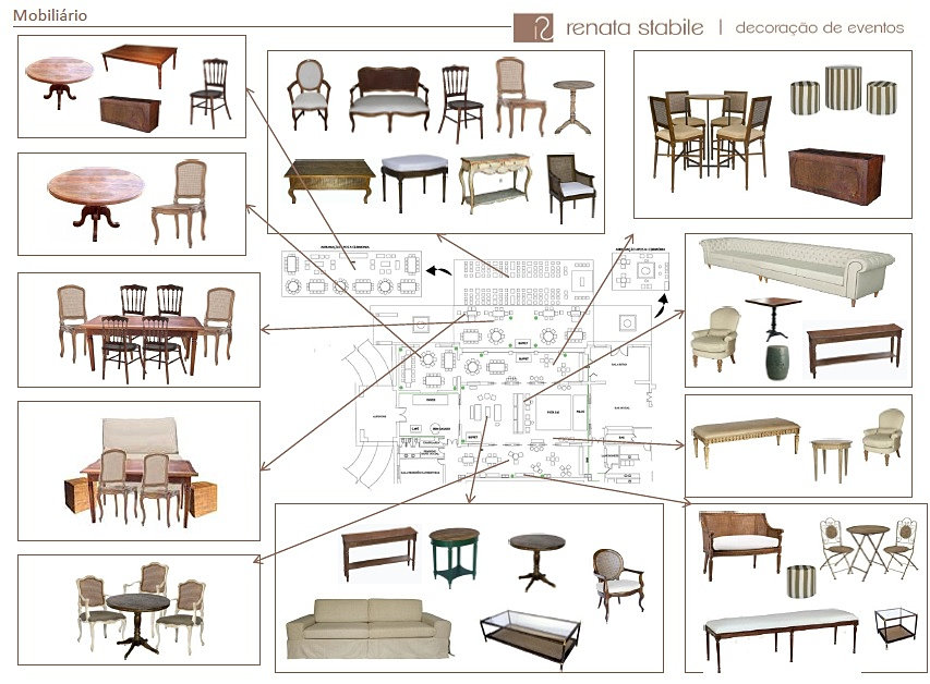 Decora o de casamento renata stabile decora o de for Medidas de mobiliario de una casa