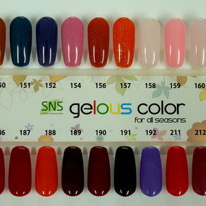 Sns Gelous Color Swatches Nails Distributor In New Zealand