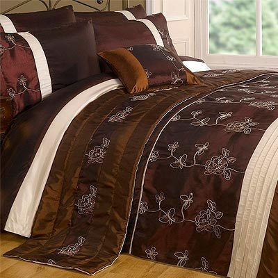 BROWN DUVET AND PILLOW COVER