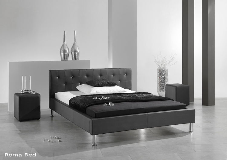 ROMA FAUX LEATHER BED