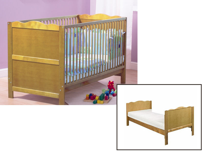PINE BABY BED