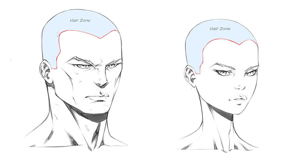Drawing Hairlines : How to draw hair hairlines