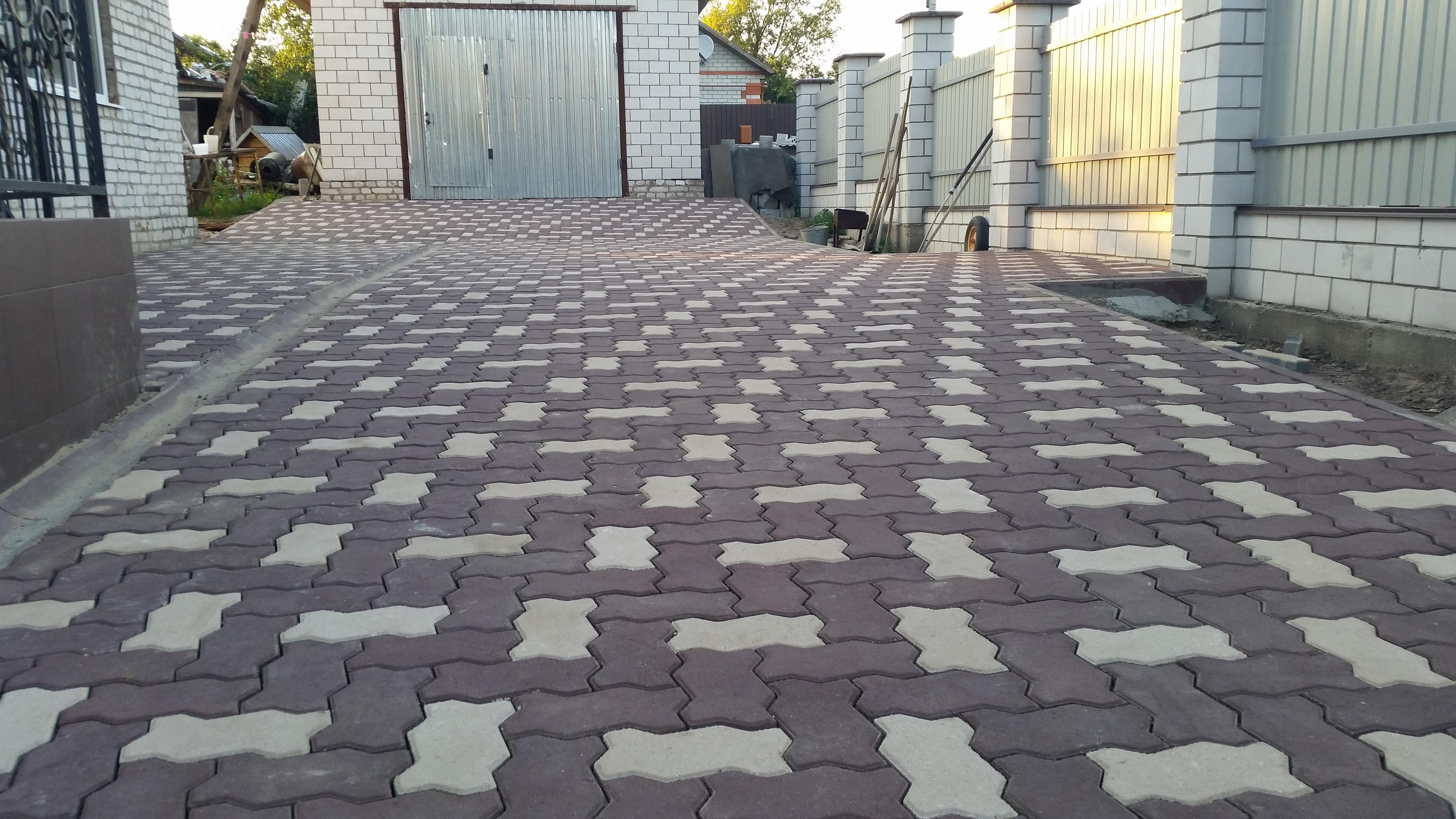 Виды кладки тротуарной плитки дизайн