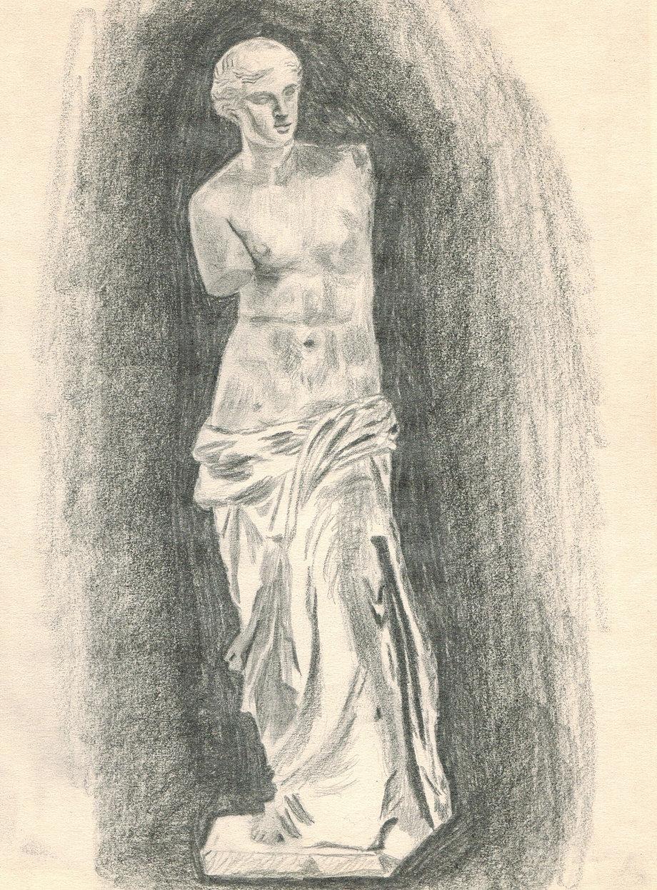 Венера милосская рисунок
