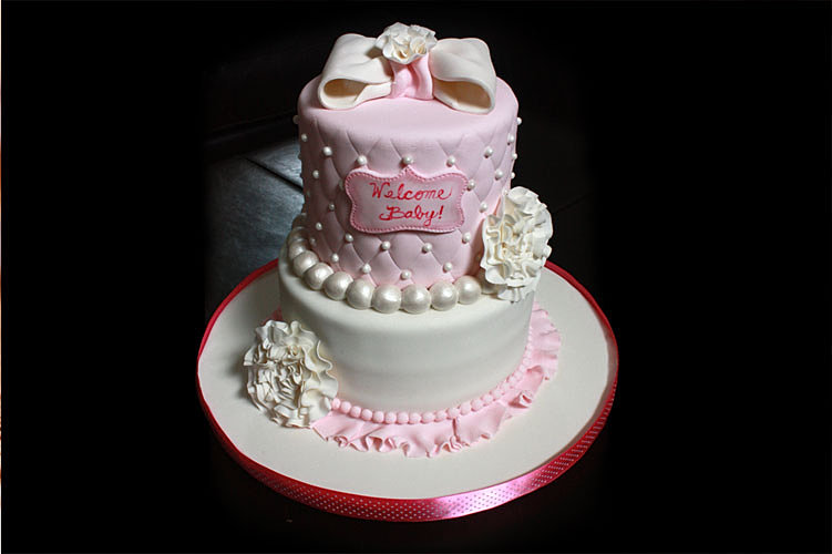 Sweet Girlie Baby Shower Cake