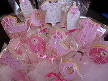 girlie baby shower cookie favors