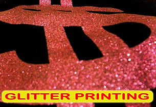 Glitter Printing, Sablon Glitter, silkscreen print, manual print, t-shirt print, apparel print