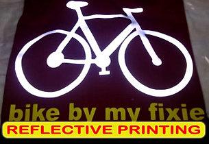 Reflective Printing, Sablon Reflective, silkscreen print, manual print, t-shirt print, apparel print
