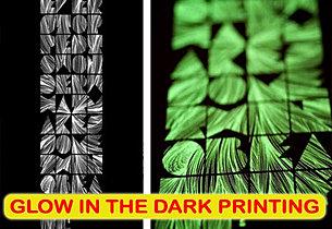 Glow in the Dark Printing, sablon glow in the dark, silkscreen print, manual print, t-shirt print, apparel print