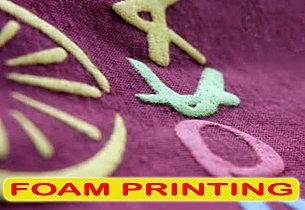 Puff Printing, Foam Printing, Sablon Foaming, sablon puff, silkscreen print, manual print, t-shirt print, apparel print
