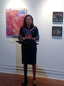 Cristina Velazquez the MC of the poetry event