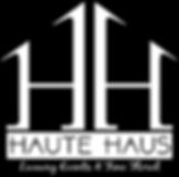 Haute Haus Logo Vertical White Monogram.