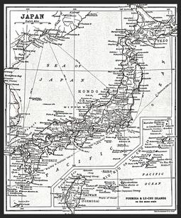 Antique old world mapsvintage mapsvintage prints map of japanaliteraryandhistoricalatlasofasiabyjgbartholomewjm gumiabroncs Images