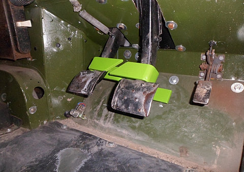 Land Rover Pedal Lock