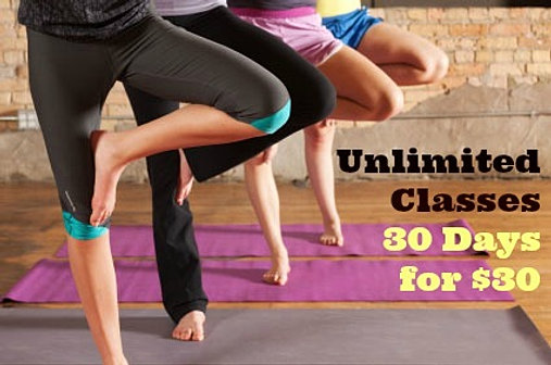 Unlimited Classes for $30