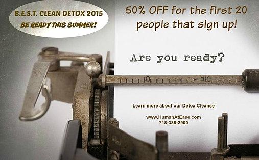 B.E.S.T. Detox Clean 2015