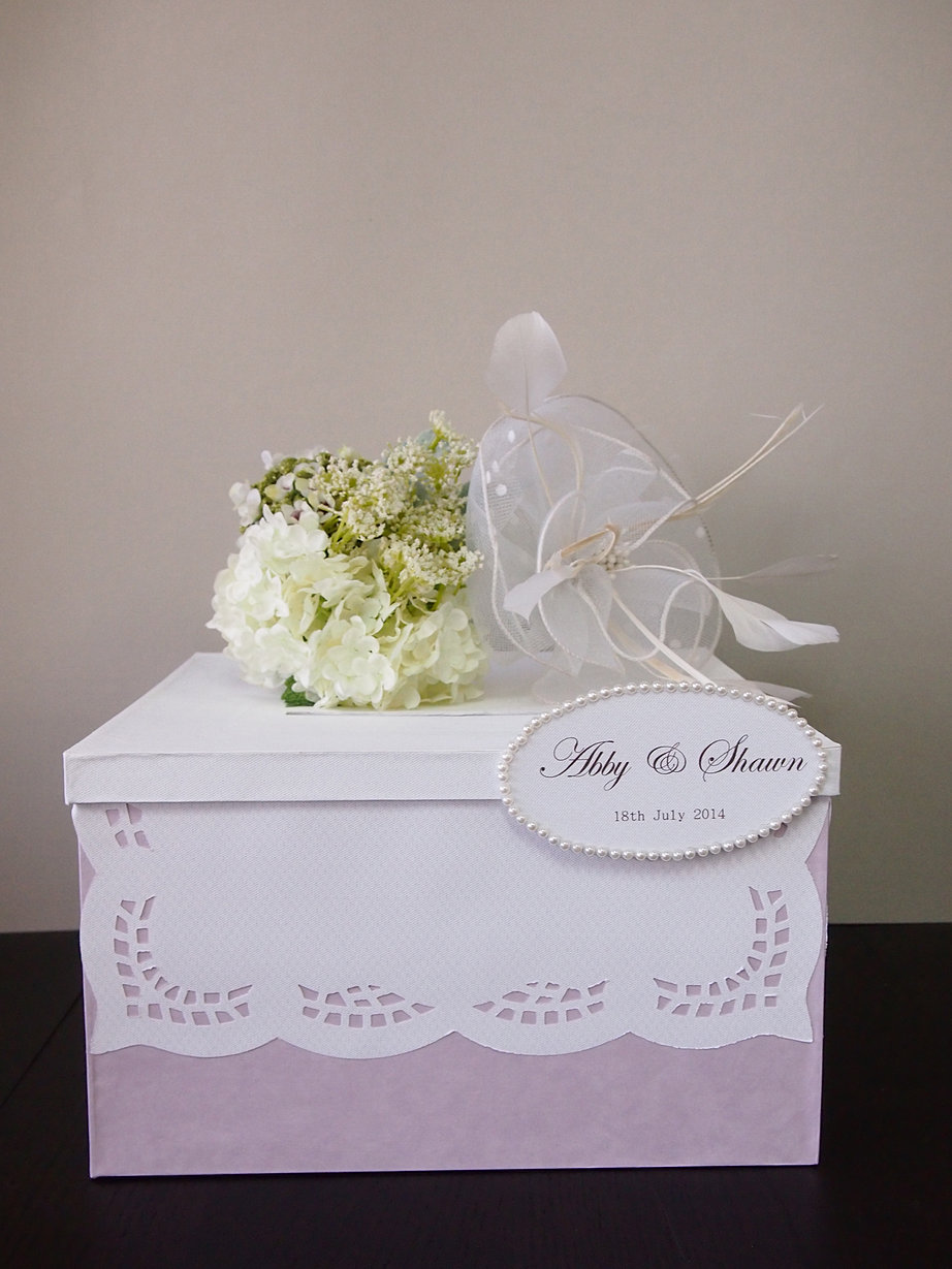 Cash gifts at wedding