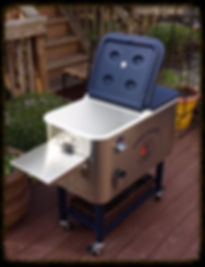 Harmony Party Rental - Wheeled Stainless Steel Beverage cooler