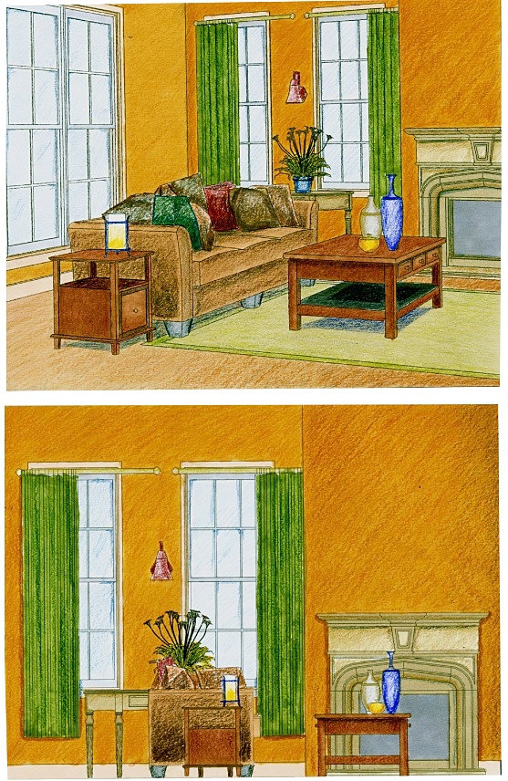 Ciara Butler Production Designer | Living Room- Color Rendering